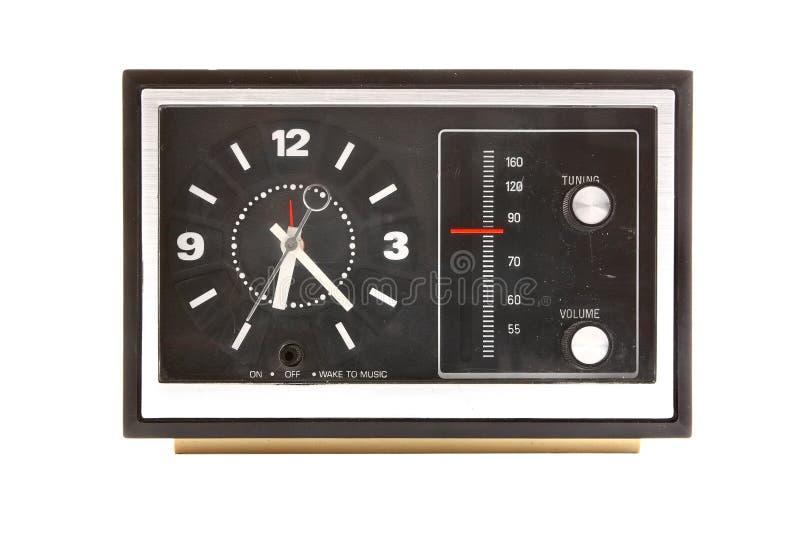 Reloj de alarma de la vendimia imagen de archivo