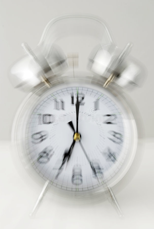 Reloj de alarma de sonido imagen de archivo