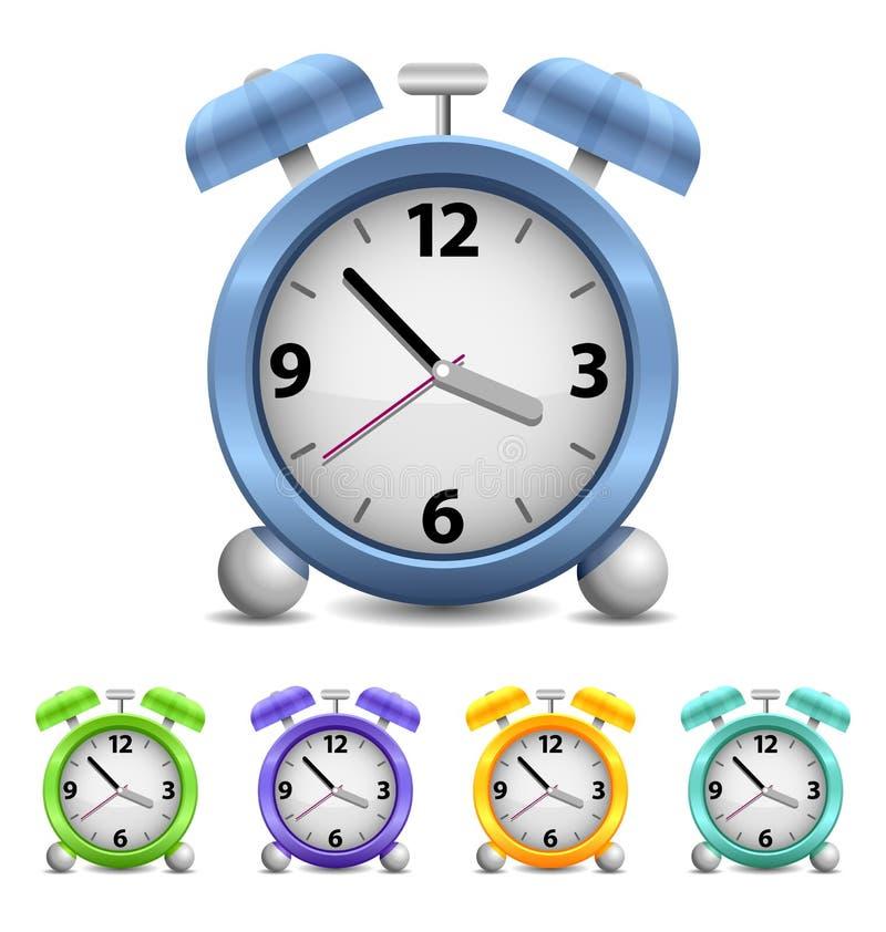 Reloj de alarma del vector ilustración del vector