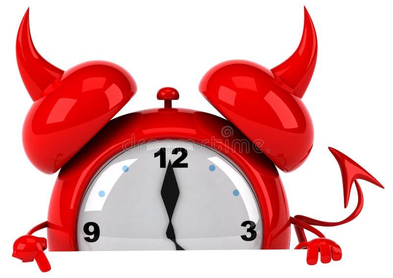 Reloj de alarma malvado ilustración del vector
