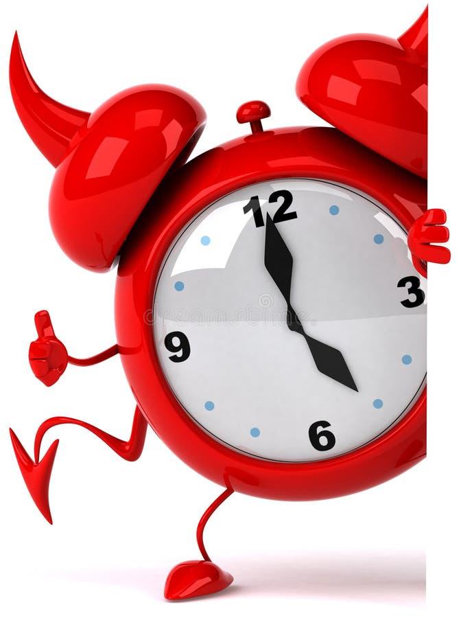 Reloj de alarma malvado libre illustration