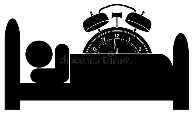Reloj de alarma por la cama libre illustration