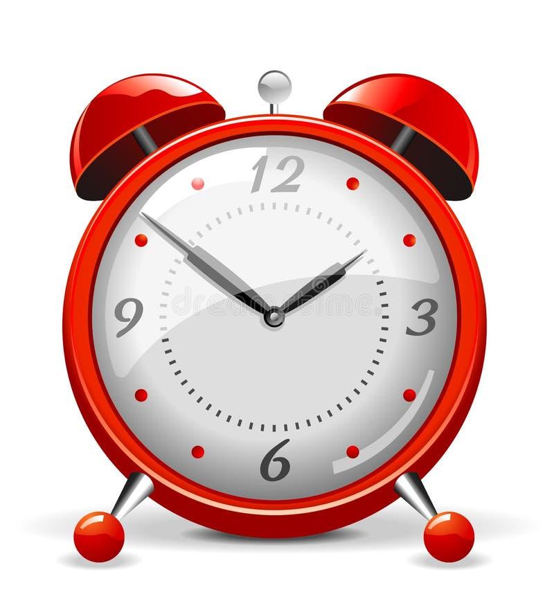 Reloj de alarma rojo ilustración del vector. Ilustración de cierre ...