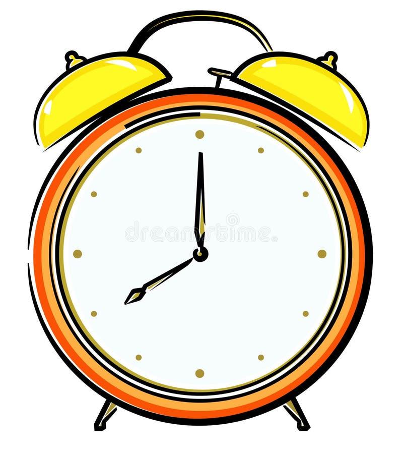 Reloj de alarma (vector) ilustración del vector