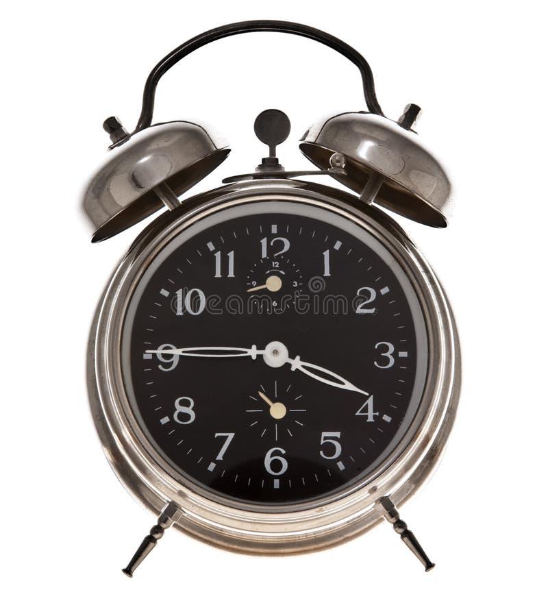 Reloj de alarma viejo fotografía de archivo