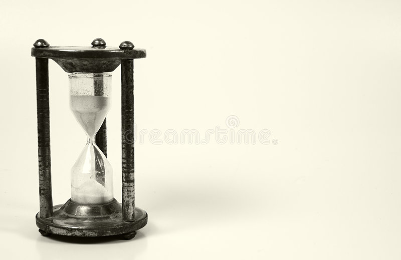 Reloj de arena imagen de archivo