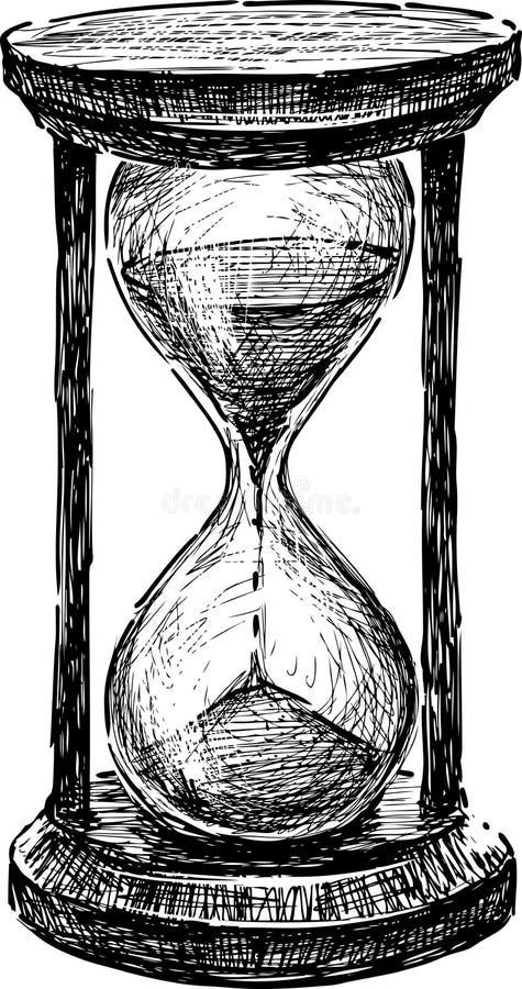 Reloj de arena stock de ilustración