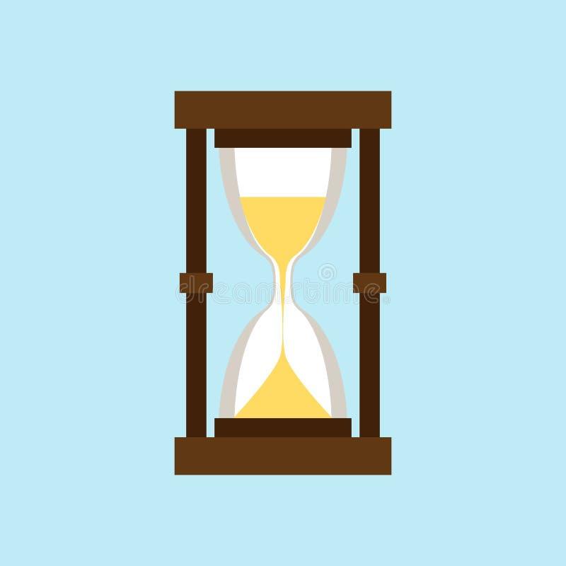 Reloj de arena aislado en un fondo azul claro libre illustration