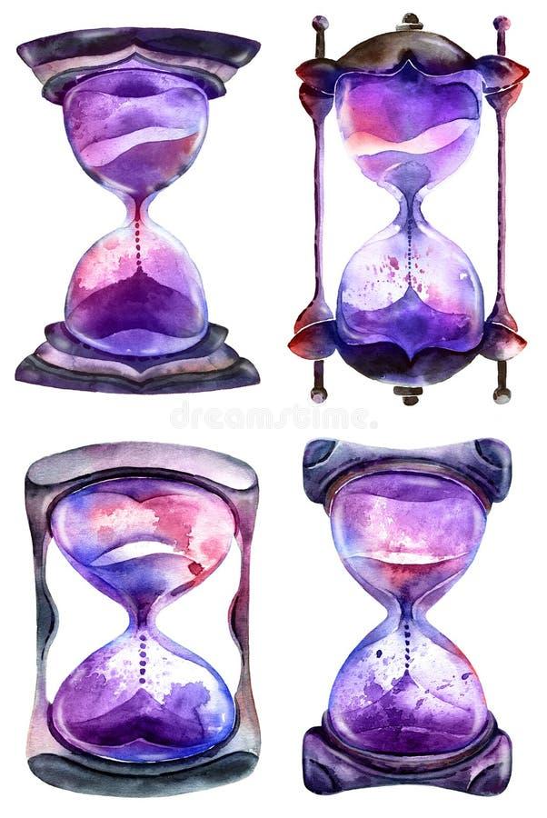 Reloj de arena alquímico de la arena libre illustration