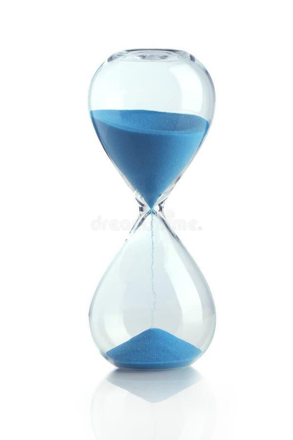 Reloj de arena azul fotos de archivo