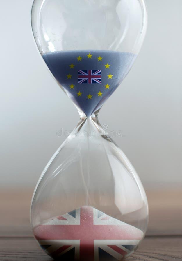 Reloj de arena de Brexit foto de archivo