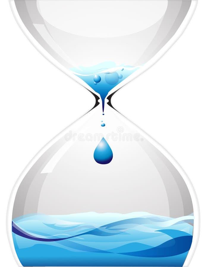 Reloj de arena con agua del goteo libre illustration