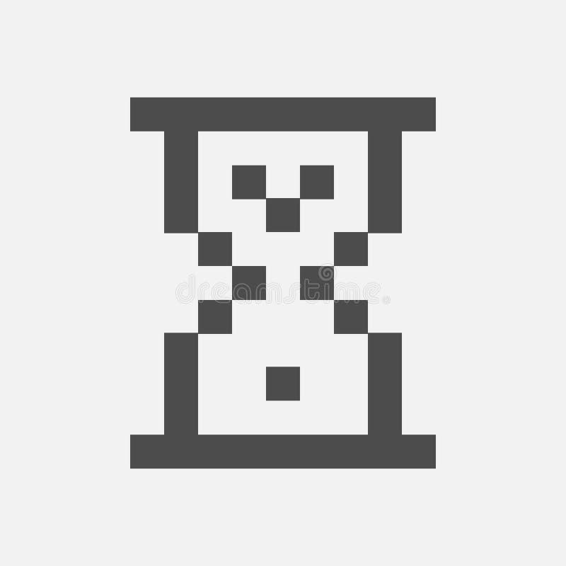 Reloj de arena del cargamento aislado en el fondo blanco Ilustración del vector stock de ilustración