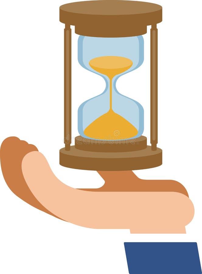 Reloj de arena en la palma libre illustration