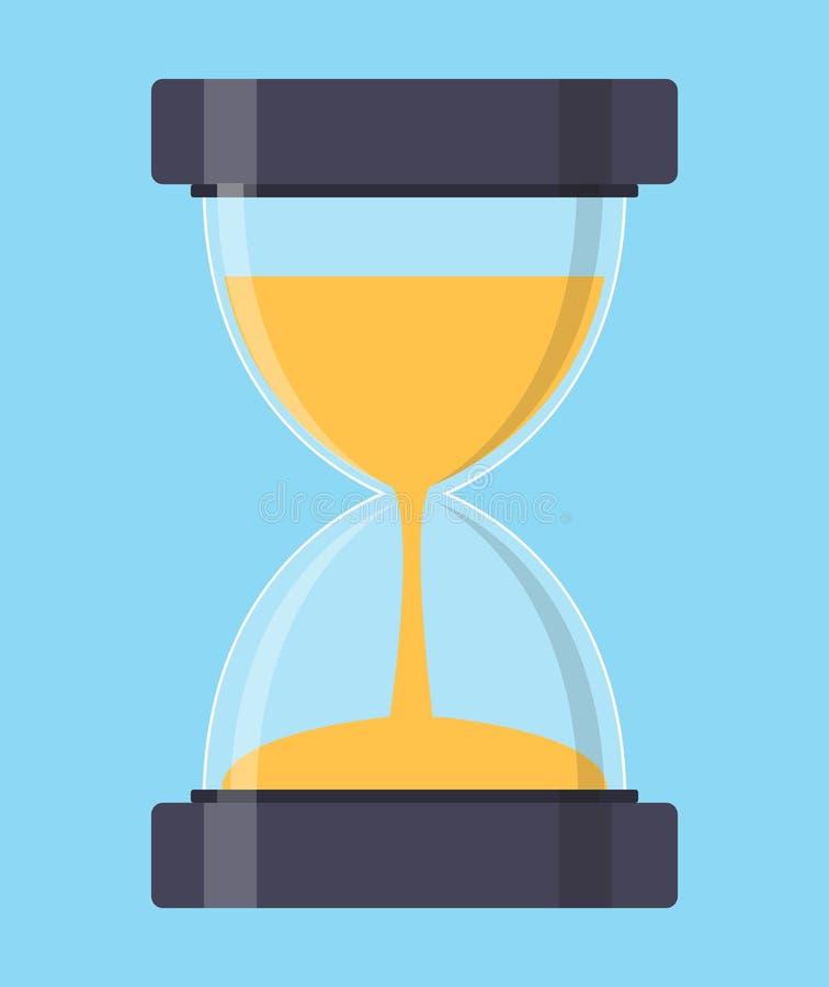 Reloj de arena, icono de Sandglass en estilo plano Ilustración del vector stock de ilustración