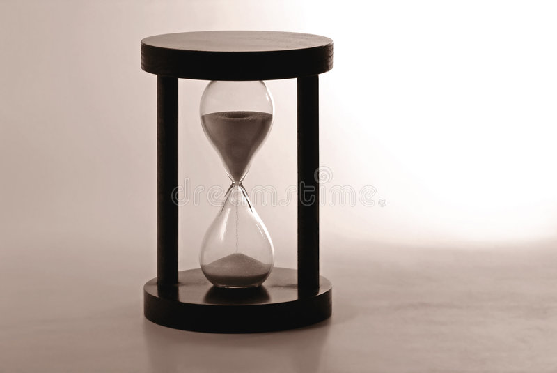 Reloj de arena que cuenta el tiempo imágenes de archivo libres de regalías