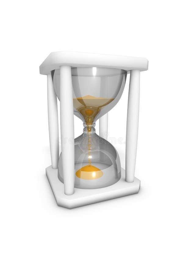 Reloj de arena que mide el tiempo hacia fuera libre illustration