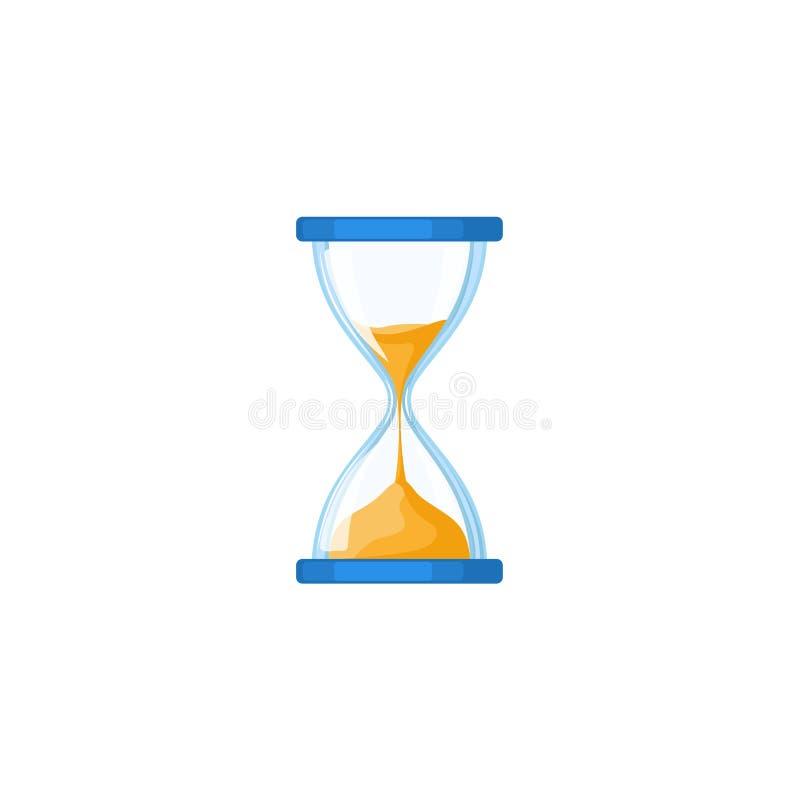 Reloj de arena, reloj de arena, sandglass, icono del arena-vidrio ilustración del vector