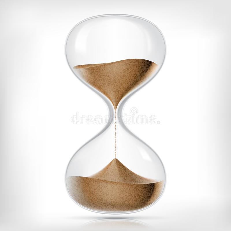 Reloj de arena transparente de la arena del vector stock de ilustración