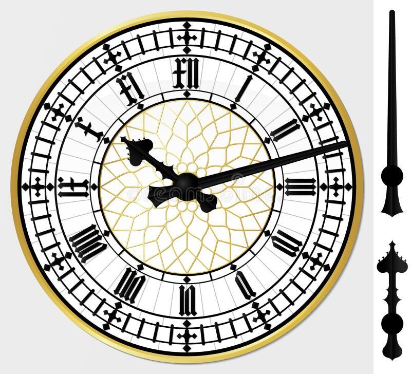 Reloj de ben grande stock de ilustración
