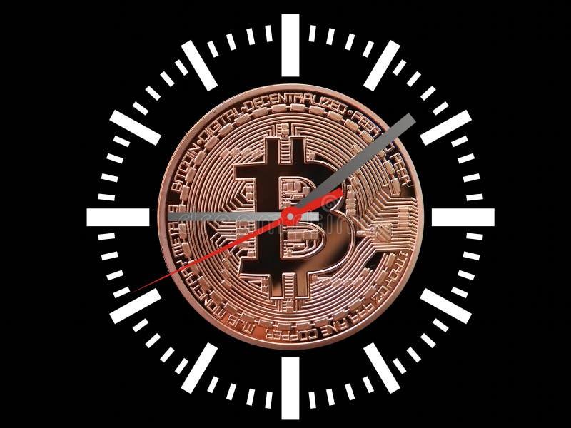Reloj de Bitcoins stock de ilustración