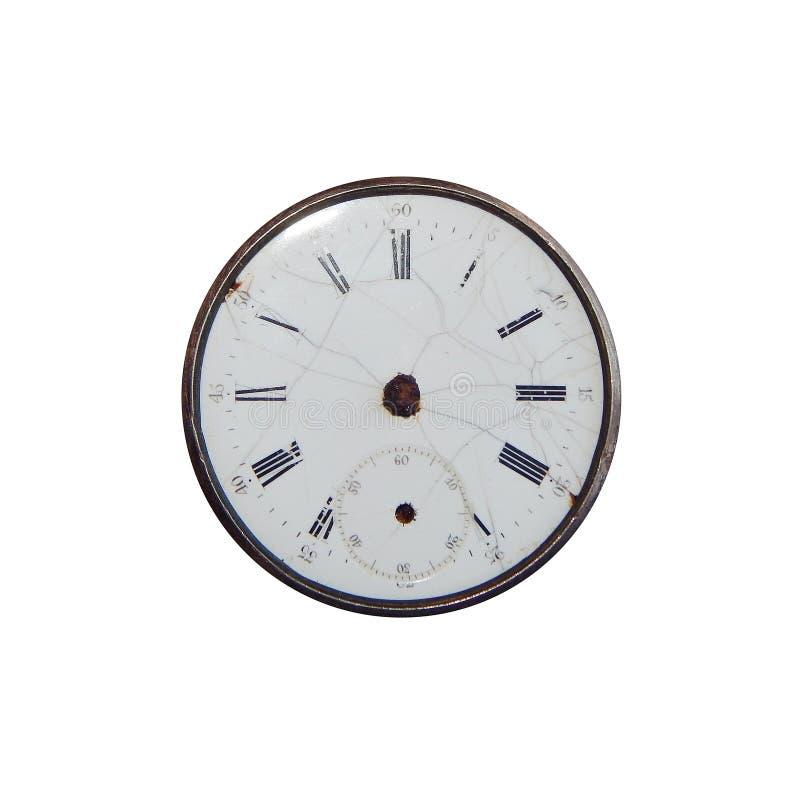 Reloj de bolsillo antiguo, dial sin las flechas imágenes de archivo libres de regalías