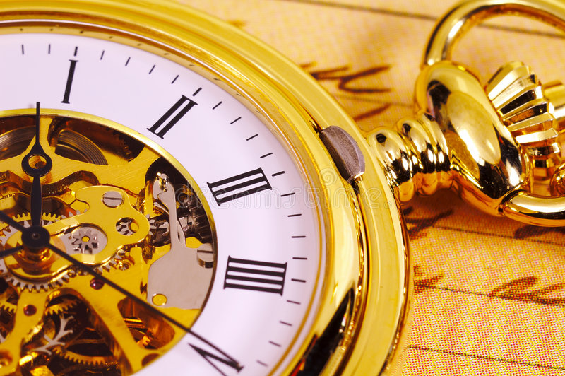 Reloj de bolsillo de la vendimia foto de archivo libre de regalías