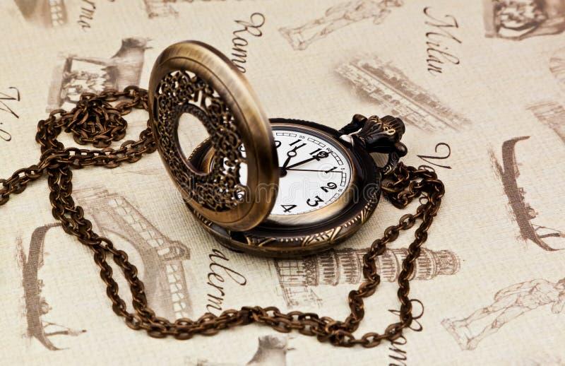 Reloj de bolsillo de la vendimia fotos de archivo