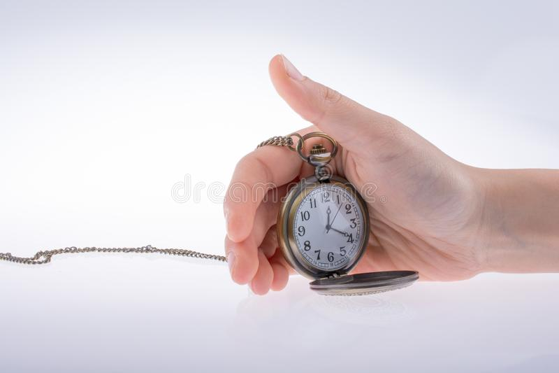 Reloj de bolsillo disponible imagenes de archivo
