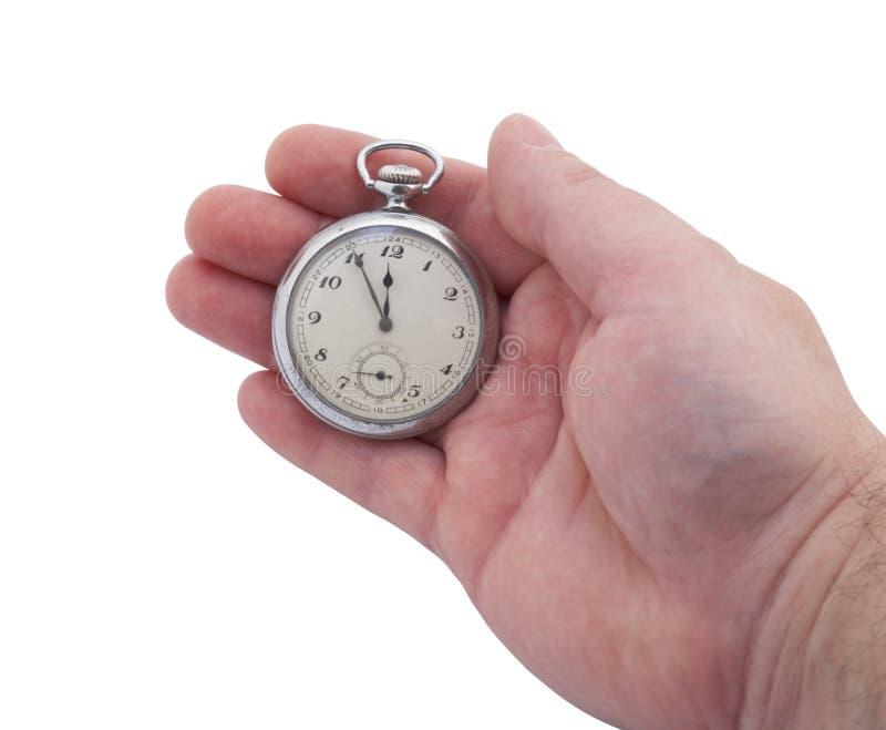 Reloj de bolsillo disponible foto de archivo
