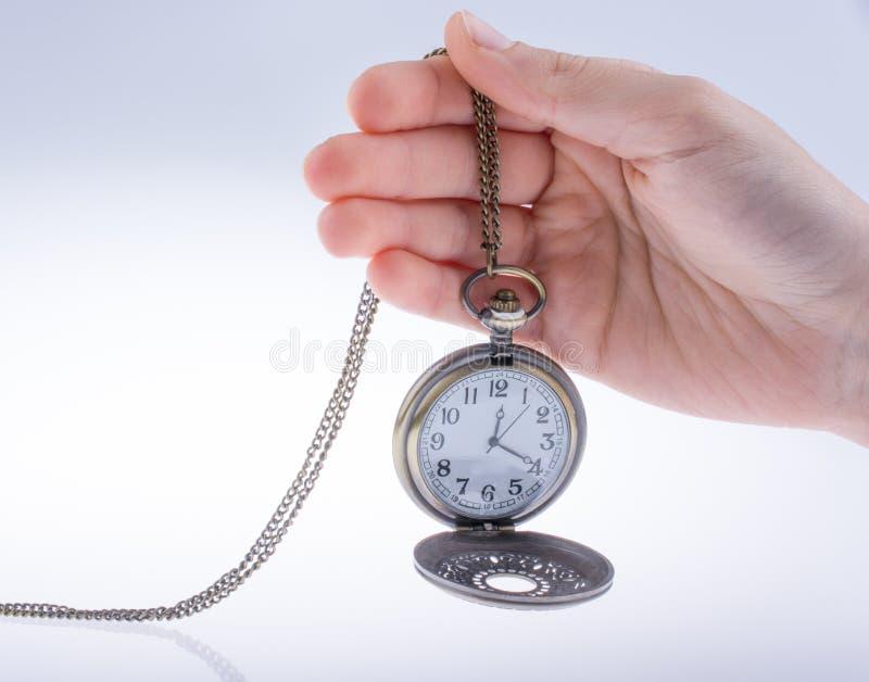 Reloj de bolsillo disponible imágenes de archivo libres de regalías