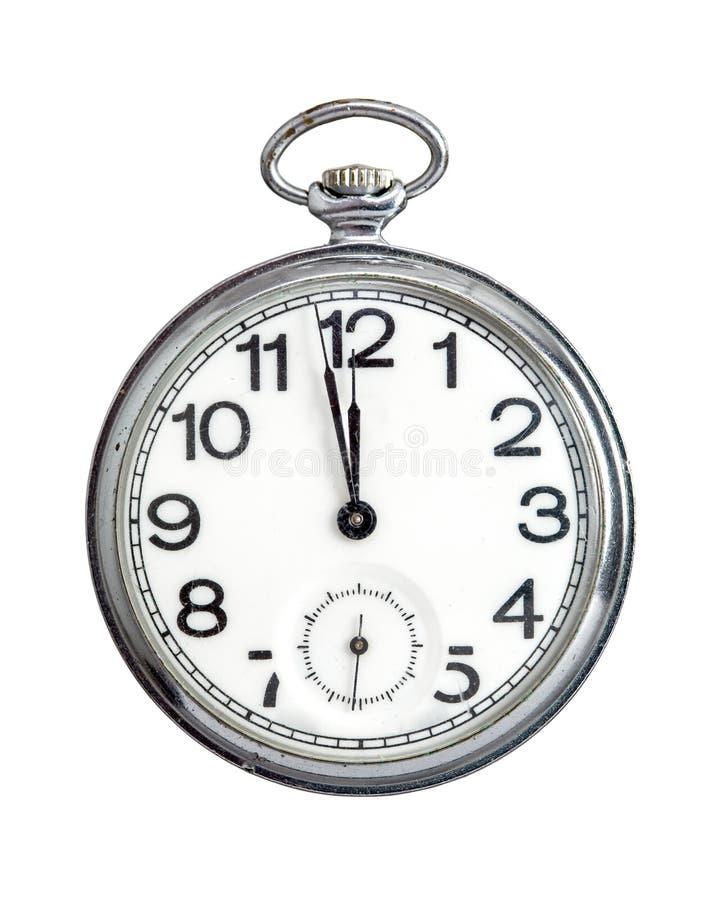 Reloj de bolsillo en blanco fotografía de archivo libre de regalías