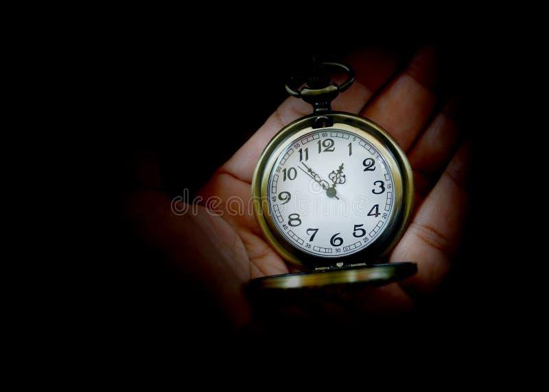 Reloj de bolsillo de plata imagen de archivo