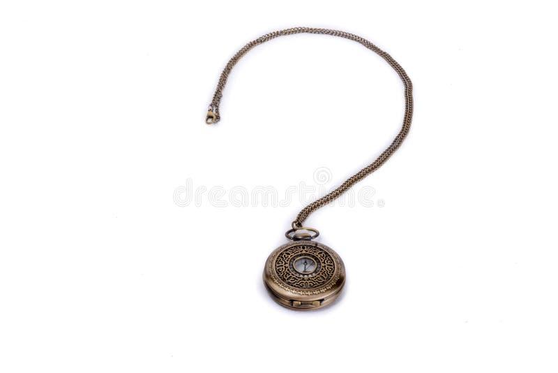 Reloj de bolsillo y un signo de interrogaci?n imagen de archivo libre de regalías