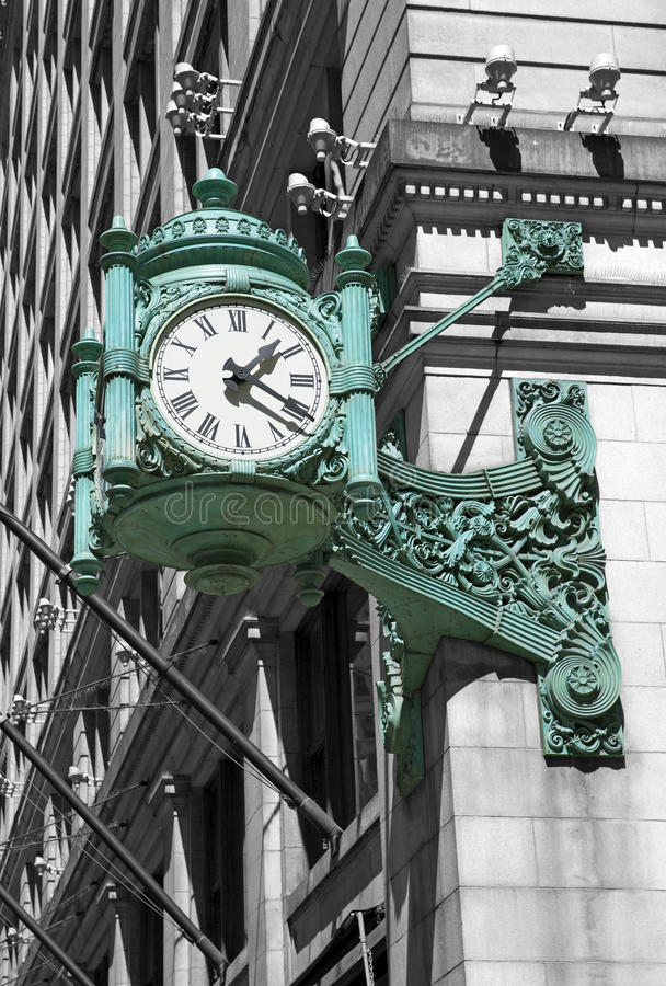 Reloj de Chicago fotos de archivo