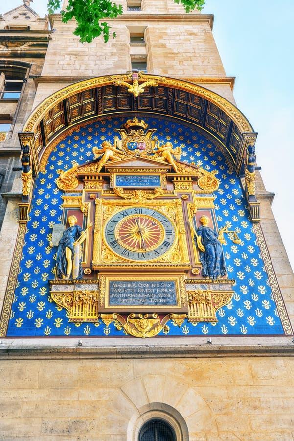 Reloj de Conciergerie Horloge del La fotos de archivo libres de regalías
