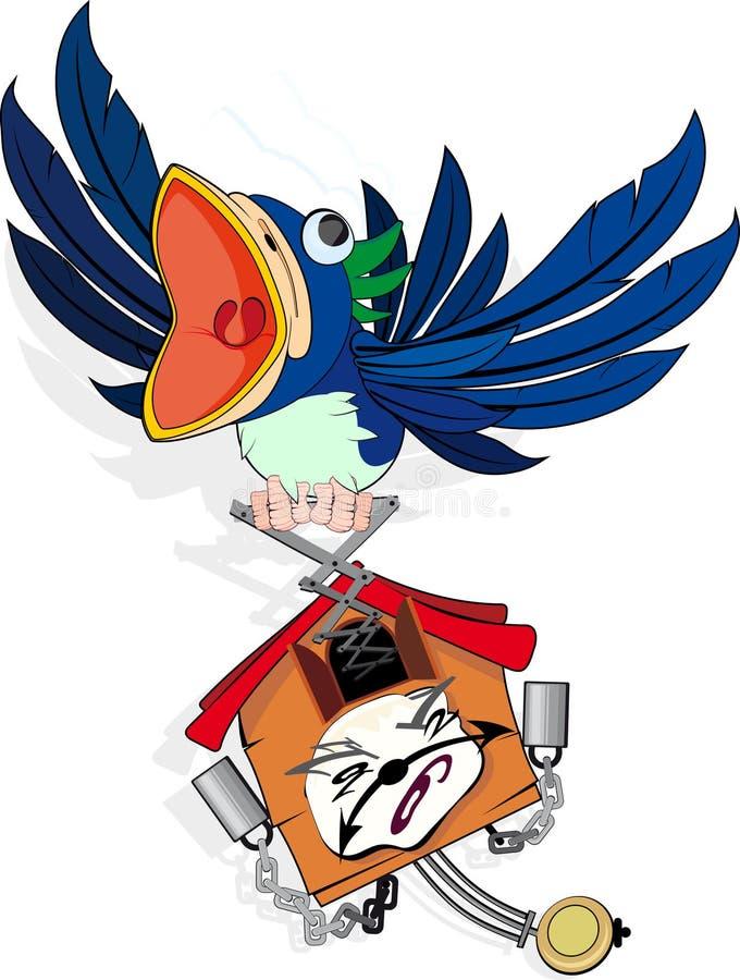 Reloj de cuco ilustración del vector