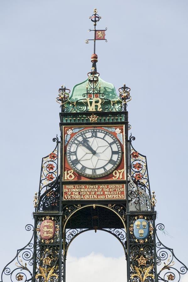 Reloj de Eastgate, Chester England Reino Unido imagen de archivo libre de regalías