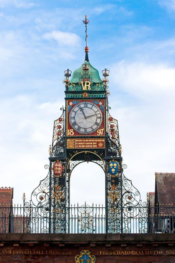 Reloj de Eastgate, Chester, Reino Unido fotos de archivo libres de regalías