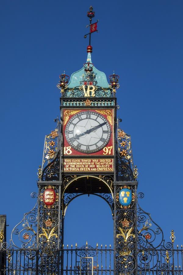 Reloj de Eastgate en Chester fotografía de archivo libre de regalías