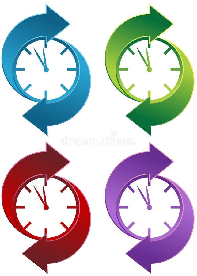 Reloj de giro ilustración del vector