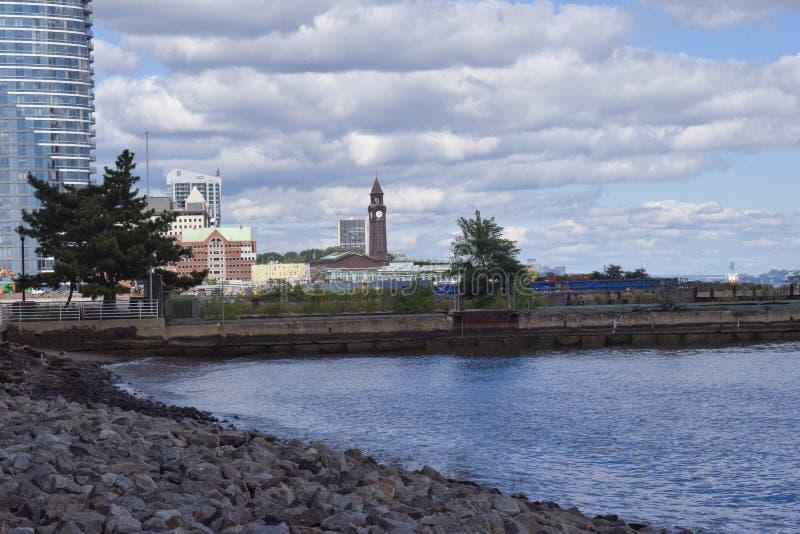 Reloj de Hoboken imagenes de archivo