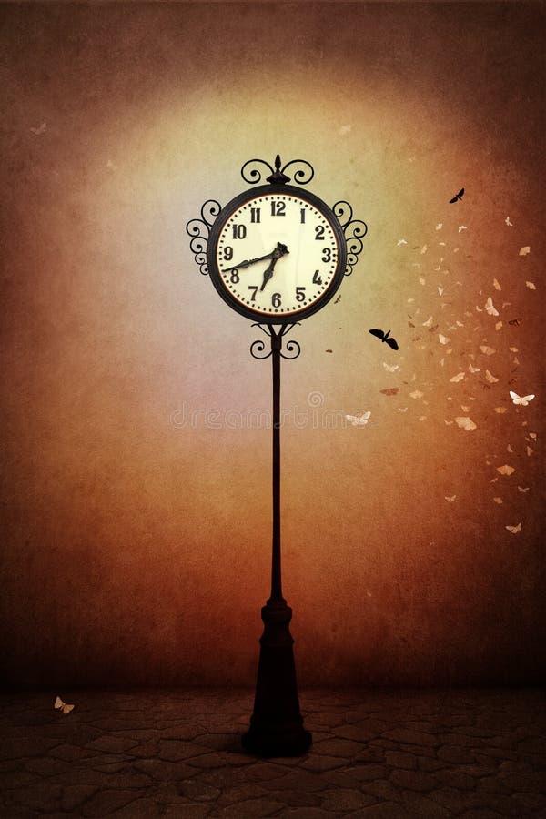 Reloj de la calle stock de ilustración