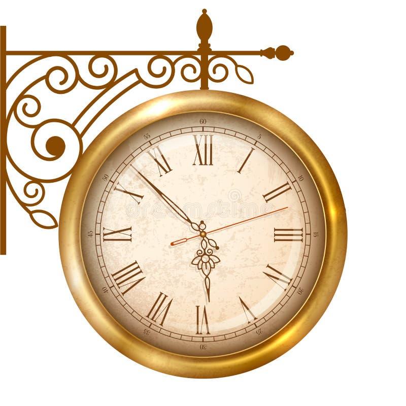 Reloj de la calle del vintage libre illustration