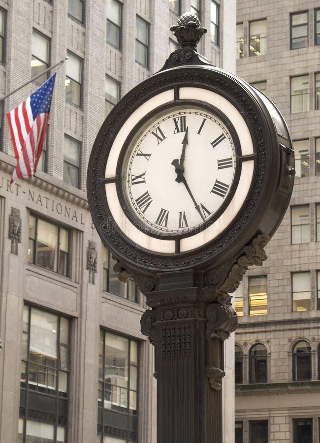 Reloj de la ciudad imágenes de archivo libres de regalías