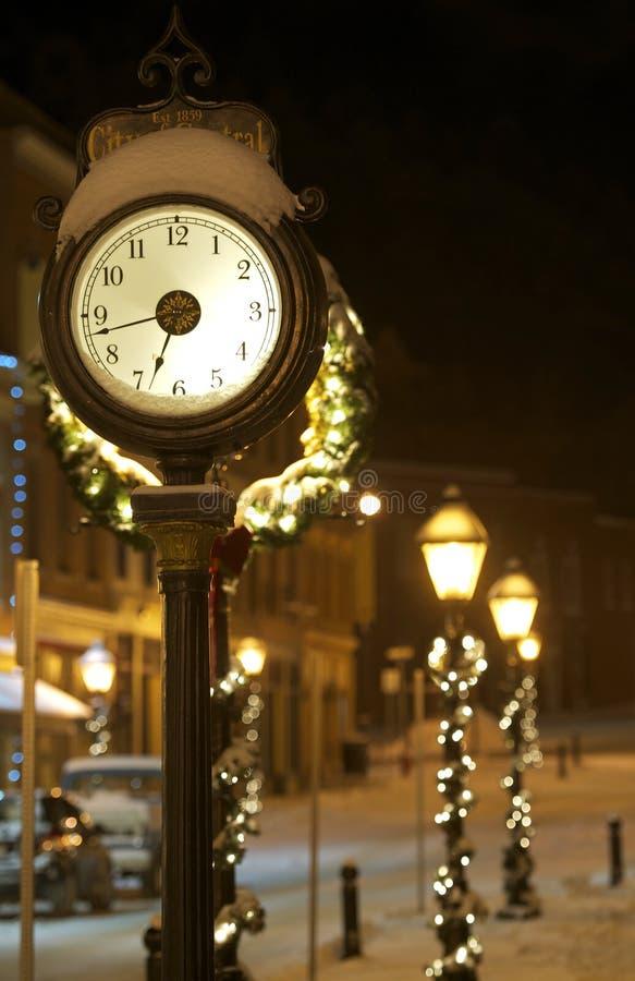 Reloj de la ciudad central imagen de archivo libre de regalías