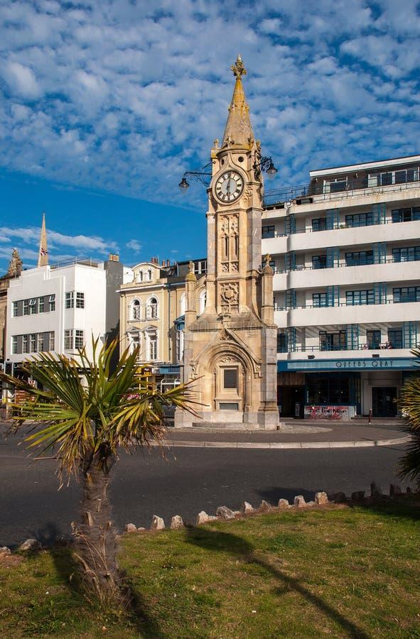 Reloj de la ciudad de Torquay fotos de archivo libres de regalías