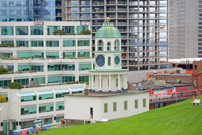Reloj de la ciudad de Halifax, Nova Scotia, Canadá fotos de archivo libres de regalías