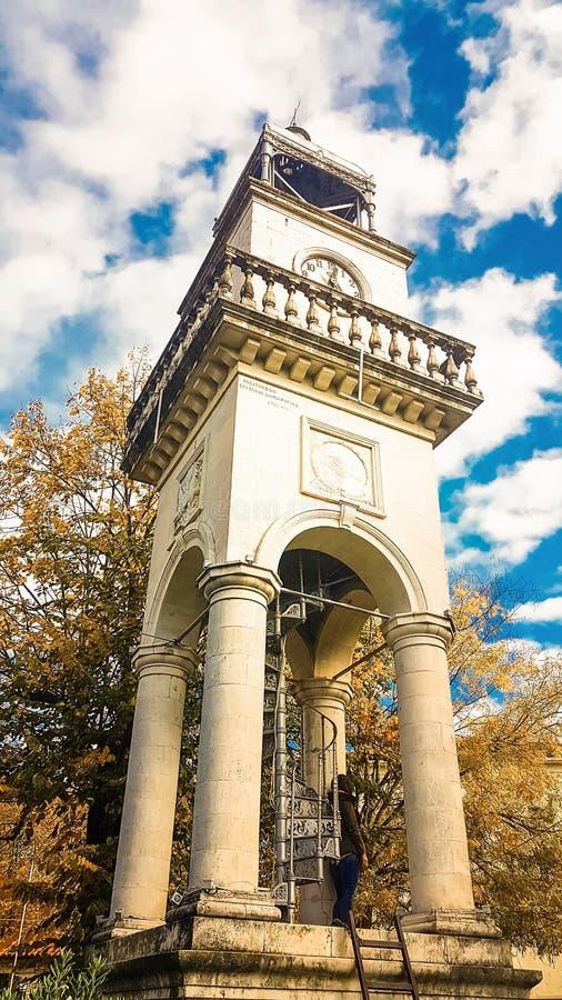 Reloj de la ciudad de Ioannina en el centro de la ciudad Epirus Grecia imágenes de archivo libres de regalías