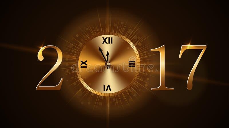 Reloj de la Feliz Año Nuevo libre illustration